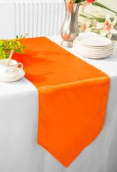 "13.5""x108"" Satin Table Runner - Orange 53633(1pc)"