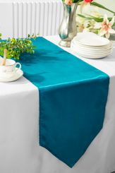 "13.5""x108"" Satin Table Runner - Peacock 53659(1pc)"
