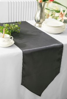 "13.5""x108"" Satin Table Runner - Pewter 53660(1pc)"