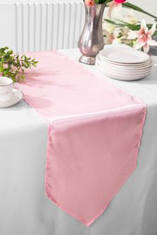 "13.5""x108"" Satin Table Runner - Pink 53605(1pc)"