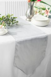 "13.5""x108"" Satin Table Runner - Platinum 53650(1pc)"
