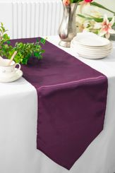 "13.5""x108"" Satin Table Runner - Plum 53665(1pc)"