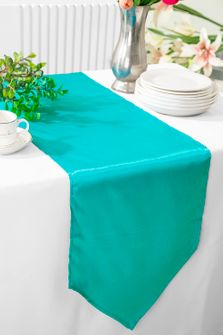 "13.5""x108"" Satin Table Runner - Pool Blue 53678(1pc)"