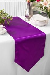 "13.5""x108"" Satin Table Runner - Purple 53643(1pc)"