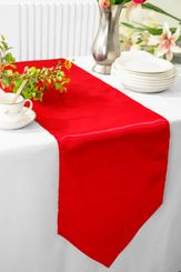 "13""x108"" Satin Table Runner - Red 53612(1pc)"