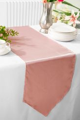 "13.5""x108"" Satin  Table Runner - Rose Pink 53607(1pc)"