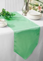 "13.5""x108"" Satin Table Runner - Sage Green 53630(1pc)"