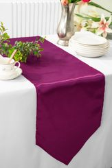 "13.5""x108"" Satin Table Runner - Sangria 53666(1pc)"