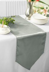 "13.5""x108"" Satin Table Runner - Silver 53640(1pc)"