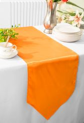 "13.5""x108"" Satin Table Runner - Tangerine 53651(1pc)"