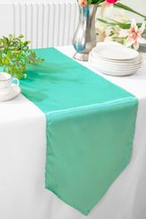 "13.5""x108"" Satin Table Runner - Tiff Blue / Aqua Blue 53618(1pc)"