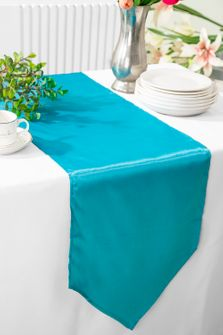 """13.5""""x108"""" Satin Table Runner - Turquoise 53685(1pc)"""
