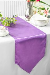 "13.5""x108"" Satin Table Runner - Victoria Lilac 53653(1pc)"