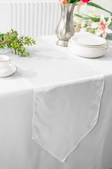 "13.5""x108"" Satin Table Runner - White 53601(1pc)"