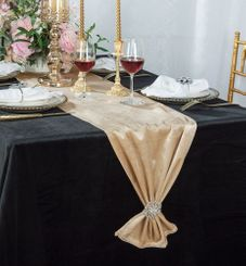 "13"" x 108"" Italian Velvet Table Runners (5 Colors)"