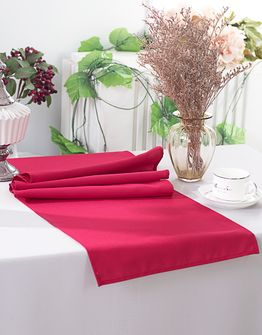 """13"""" x 108"""" Polyester Table Runners - Apple Red 52908 (1pc)"""