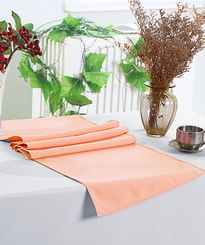 "13"" x 108"" Polyester Table Runners - Apricot/Peach 52931 (1pc)"