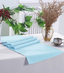 "13"" x 108"" Polyester Table Runners - Baby Blue 52920 (1pc)"