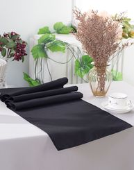 "13"" x 108"" Polyester Table Runners - Black 52939 (1pc)"