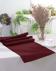 "13"" x 108"" Polyester Table Runners - Burgundy 52910 (1pc)"