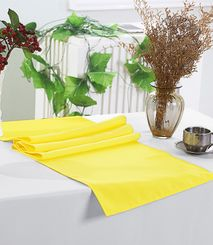 "13"" x 108"" Polyester Table Runners - Canary Yellow 52916 (1pc)"