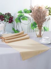 "13"" x 108"" Polyester Table Runners - Champagne 52928 (1pc)"