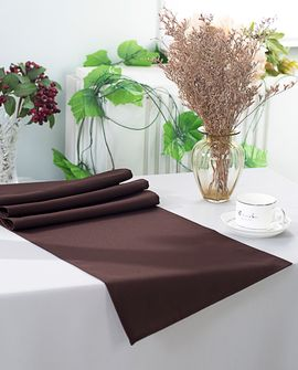 """13"""" x 108"""" Polyester Table Runners - Chocolate 52991 (1pc)"""
