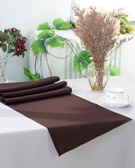 "13"" x 108"" Polyester Table Runners - Chocolate 52991 (1pc)"