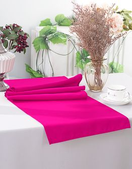 """13"""" x 108"""" Polyester Table Runners - Fuchsia 52909 (1pc)"""