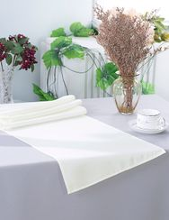 "13"" x 108"" Polyester Table Runners - Ivory 52902 (1pc)"