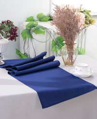 "13"" x 108"" Polyester Table Runners - Navy Blue 52923 (1pc)"
