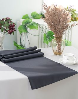 """13"""" x 108"""" Polyester Table Runners - Pewter 52960 (1pc)"""