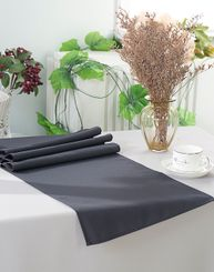 "13"" x 108"" Polyester Table Runners - Pewter 52960 (1pc)"