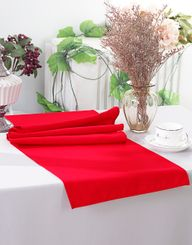 "13"" x 108"" Polyester Table Runners - Red 52912 (1pc)"