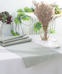 "13"" x 108"" Polyester Table Runners - Silver 52940 (1pc)"