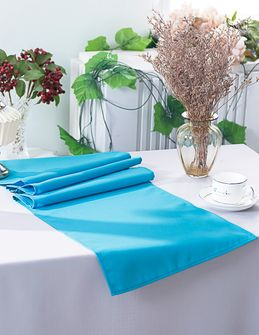 """13"""" x 108"""" Polyester Table Runners - Turquoise 52985 (1pc)"""