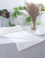 "13"" x 108"" Polyester Table Runners - White 52901 (1pc)"