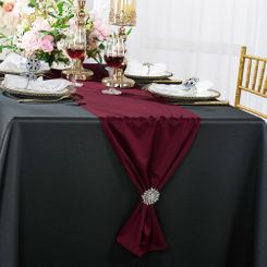 "13""x 108"" Scuba (Wrinkle-Free) Table Runner - Burgundy 20210 (1pc)"