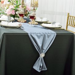 "13""x 108"" Scuba (Wrinkle-Free) Table Runner - Dusty Blue 20203 (1pc)"