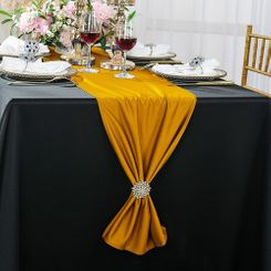 "13""x 108"" Scuba (Wrinkle-Free) Table Runner - Gold 20227 (1pc)"