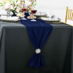 "13""x 108"" Scuba (Wrinkle-Free) Table Runner - Navy Blue 20223 (1pc)"