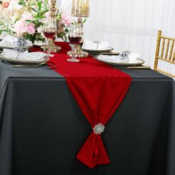 "13""x 108"" Scuba (Wrinkle-Free) Table Runner - Red 20212 (1pc)"