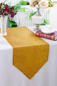 "13""x108"" Crushed Taffeta Table Runner - Gold 61227(1pc)"