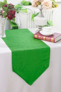 "13""x108"" Crushed Taffeta Table Runners - 33 colors"