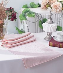 "13""x108"" Paillette Poly Flax / Burlap Table Runner - Blush Pink 10315 (1pc/pk)"