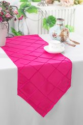 "13""x108"" Pintuck Taffeta Table Runner - Fuchsia (1pc)"
