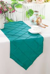 "13""x108"" Pintuck Taffeta Table Runner - Oasis  60258(1pc)"