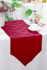 "13""x108"" Pintuck Taffeta Table Runners - 28 colors"