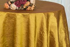 "132"" Round Crushed Taffeta Tablecloths (31 colors)"