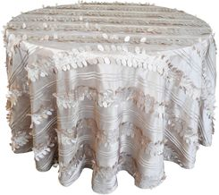 """132"""" Round Forest Taffeta Tablecloths - Champagne 67028(1pc/pk)"""